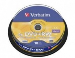 Verbatim DVD+RW 4.7GB 10 Pack Spindle 4x