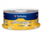 Verbatim DVD+RW 4X 4.7GB 30 Pack Spindle