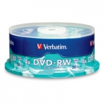Verbatim DVD-RW 4X 4.7GB Branded Surface DVD Discs - 30 Pack
