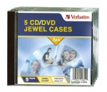 Verbatim CD/DVD Empty Jewel Cases - 5 Pack
