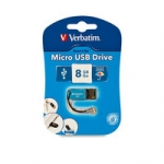 Verbatim Store and Go Micro USB Drive 8GB - Blue