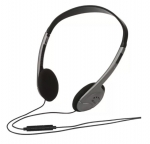 Verbatim Multimedia On-ear Headset with Inline Microphone - Grey