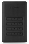 Verbatim Store 'n' Save Secure 2TB USB 3.1 Portable External Hard Drive with Keypad Access - Black
