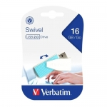 Verbatim Store'n'Go Mini Swivel 16GB USB 2.0 Flash Drive - Blue