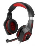 Vertux Denali High Fidelity Surround Sound Over Ear Wired Gaming Headset - Red