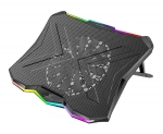 Vertux GLARE Height Adjustable Laptop Cooling Pad with Rainbow LED Lights