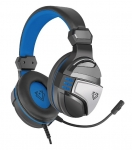 Vertux Malaga Amplified Stereo Over Ear Wired Gaming Headset - Blue