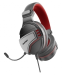 Vertux Malaga Amplified Stereo Over Ear Wired Gaming Headset - Red