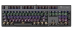 Vertux Tactical Mechanical RGB Wired Gaming Keyboard - Black