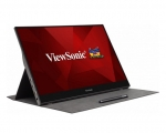 ViewSonic TD1655 15.6 Inch 1920x1080 Full HD 6.5ms 75Hz 250nit IPS Portable Touchscreen Monitor with Speakers - USB-C, Mini HDMI