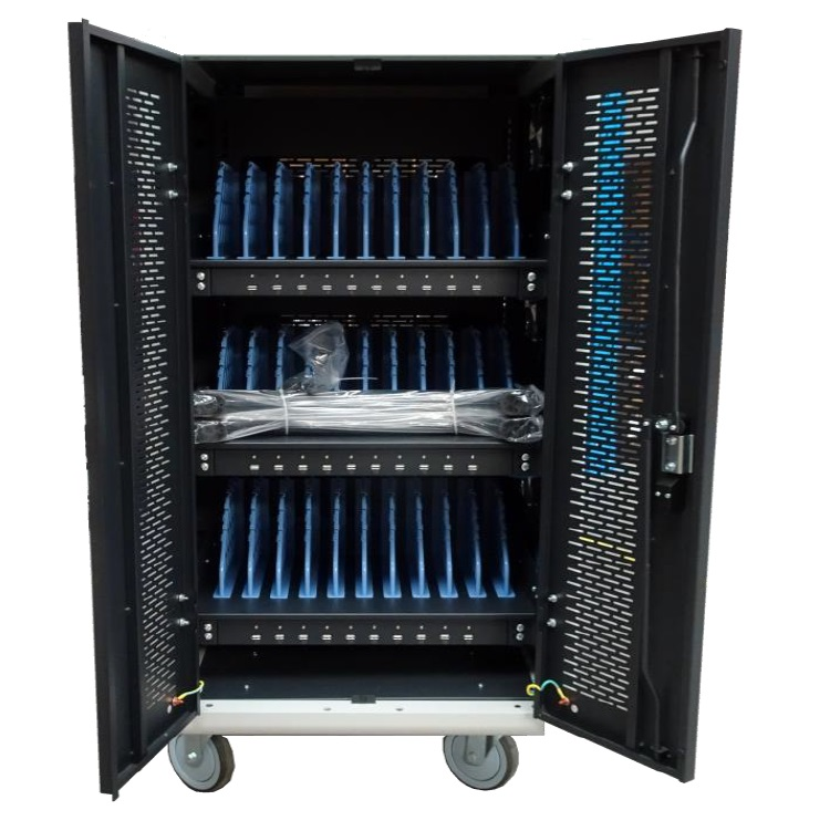 Digitus 30 Bay Charging Trolley for Tablets & Laptops + FREE Class Set of Headsets!