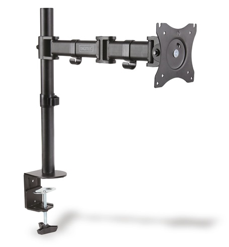 Digitus Single Monitor Universal Desk Clamp Mount Bracket for up to 27 Inch Flat Panel TVs or Monitors - Up to 8kg
