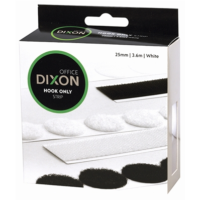 Dixon Hook Only 3.6m x 25mm Strip - White