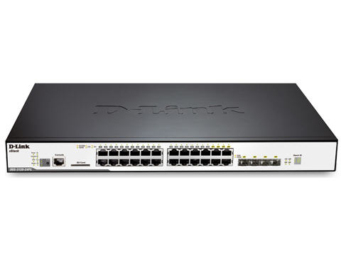 Dlink 24-Port Gigabit & 4-Port Combo SFP L2 Stackable Managed Switch with POE