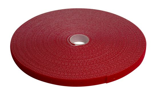 Dynamix Hook & Loop 12mm x 20m Dual Sided Roll - Red