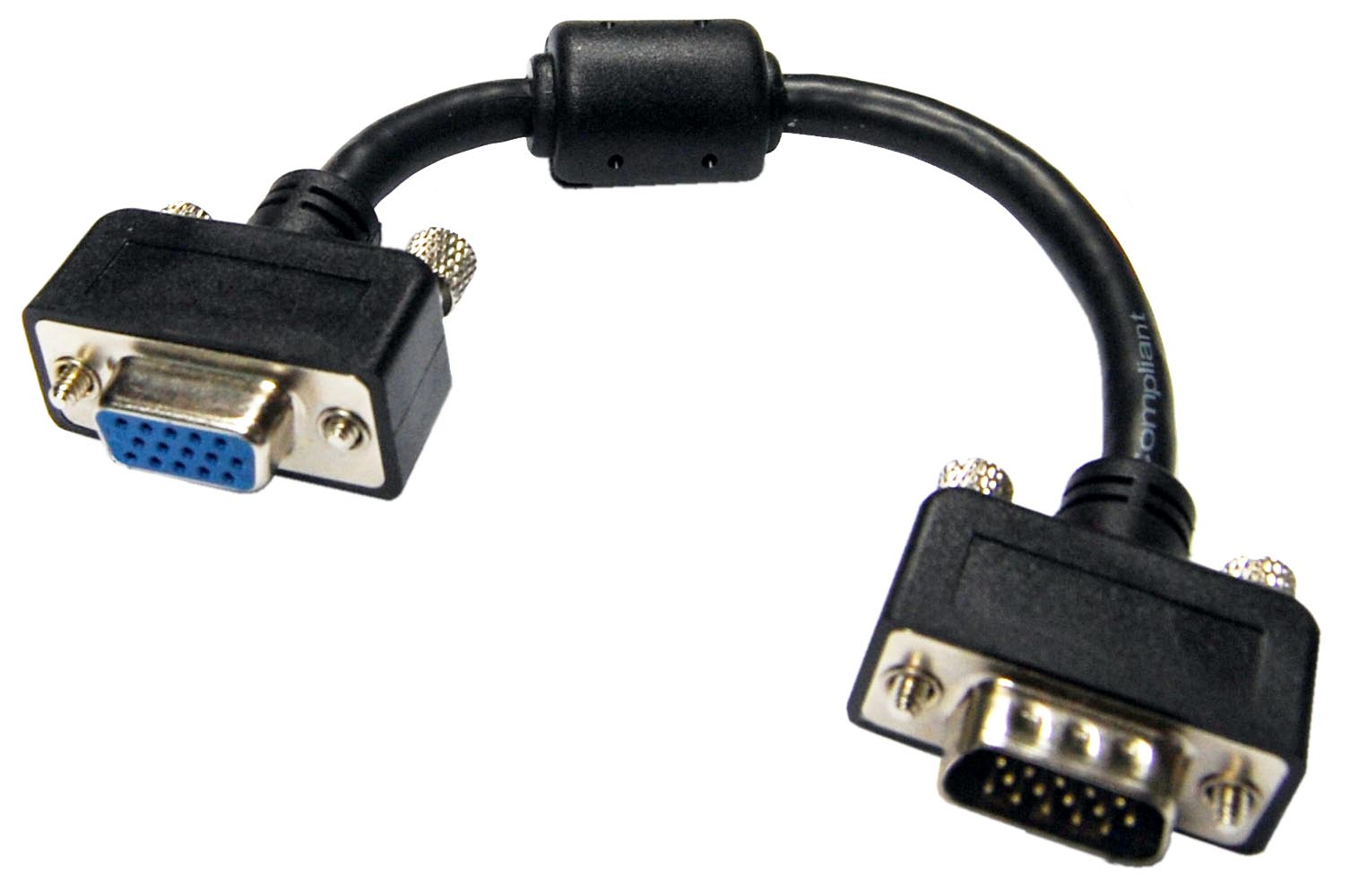 Dynamix 180mm Slimline VGA Male to Female Pigtail