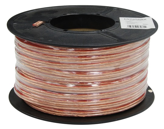 Dynamix 50M 16AWG/1.31mm2, OFC 25/0.25BC x 2 Core Speaker Cable