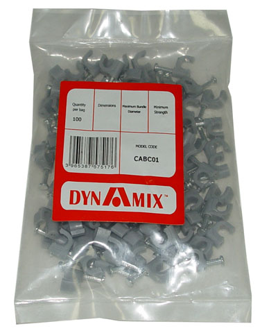 Dynamix Cable Clips - 100 Pack