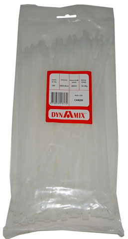 Dynamix 250mm x 4.8mm Cable Ties - 100 Pack