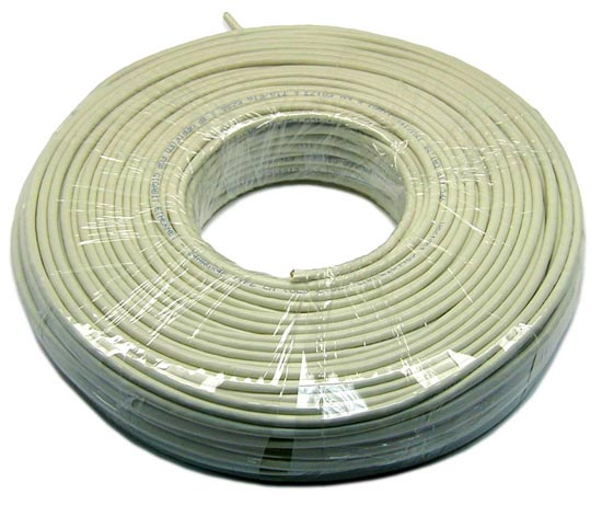 DYNAMIX 100M Cat5E Ivory UTP SOLID Cable Roll. 350MHz, 24 AWGx4P, PVC Jacket