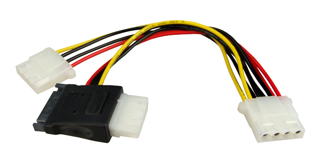 Dynamix Serial ATA to 2x LP4 Molex Splitter Cable