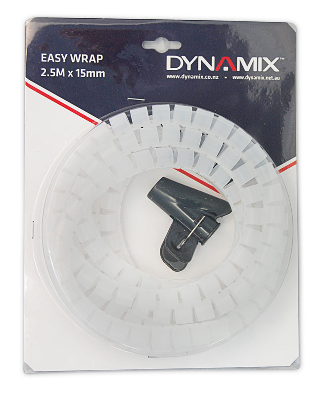 Dynamix Easy Wrap 2.5m x 15mm Clear Cable Management Solution