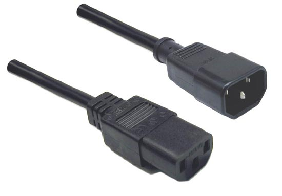 Dynamix 30cm IEC Male to IEC Female SAA Approved Power Cord Extension Cable