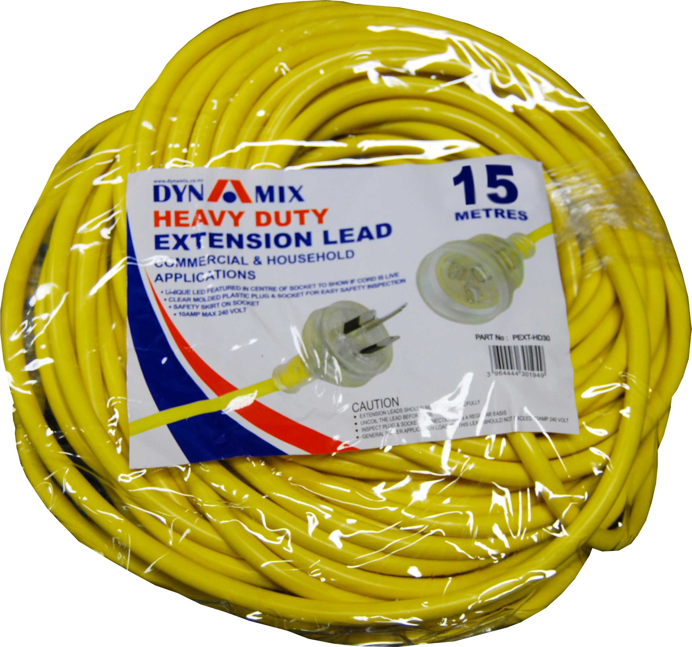Dynamix 15m Heavy Duty Power Extension Lead Cable