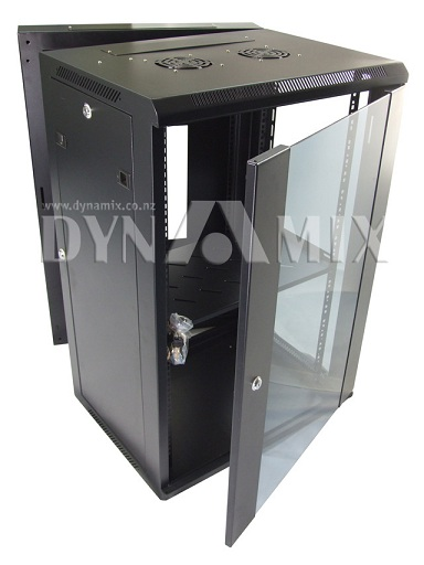 Dynamix 24RU Universal Swing Wall Mount Cabinet - Removable Backmount supplied with Left & Right Hinges (600x550x1167mm)
