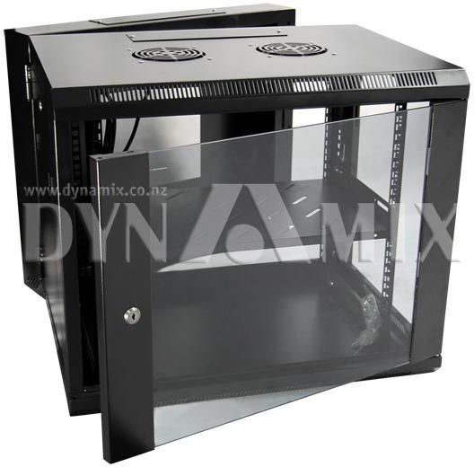 Dynamix 9RU Universal Swing Wall Mount Cabinet - Removable Backmount supplied with Left & Right Hinges (600x550x501mm)