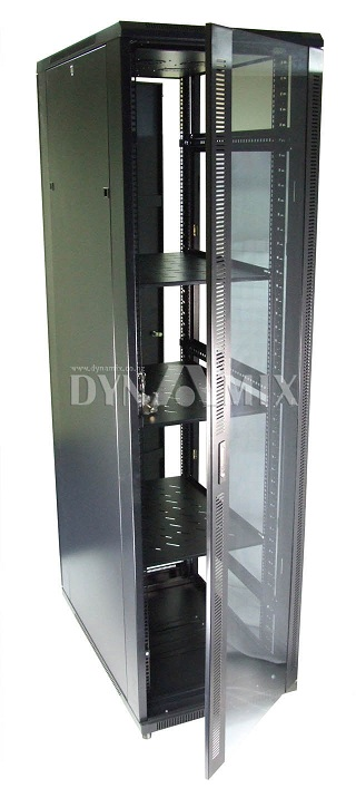Dynamix 45RU Server Cabinet 1000mm Deep (600x1000x2160mm) - Flat Pack