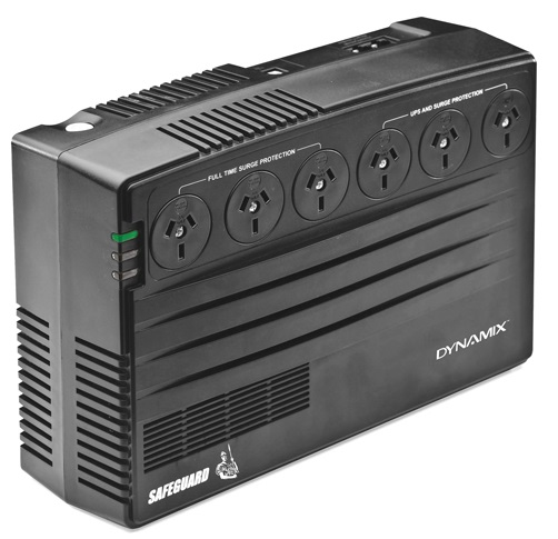 Dynamix SafeGuard 750VA/450W 6 x Outlets Line Interactive Tower UPS