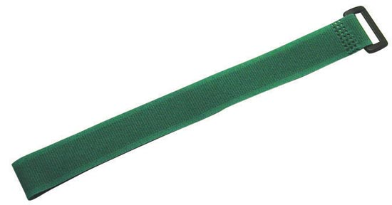 Dynamix Hook & Loop 300mm x 20mm Green Cable Ties - 10 Pack