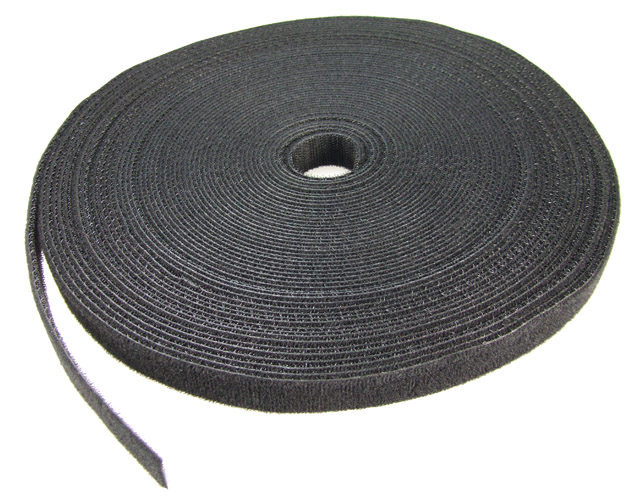 Dynamix Hook & Loop 20m x 20mm Black Dual Sided Roll