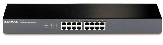 Edimax 16 Port 10/100 UTP Switch Fast Ethernet,19 Inch Rackmount Version