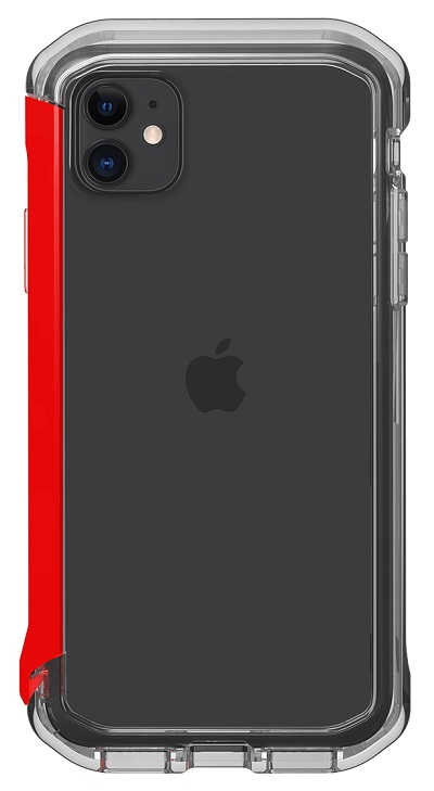 STM Element Rail Case for iPhone 11 & XR - Clear/Red