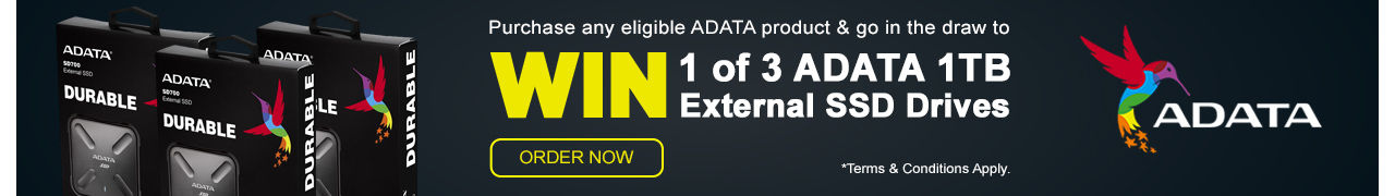 WIN 1 of 3 ADATA 1TB SSD Drives with eligible ADATA orders