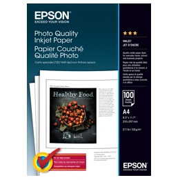 Epson S041061 Glossy Inkjet A4 102gsm Photo Paper - 100 Sheets