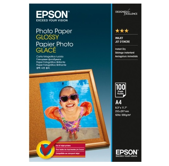 Epson S042540 Glossy Inkjet A4 200gsm Photo Paper - 100 Sheets