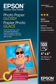 Epson S042548 Glossy 4x6 200gsm Photo Paper - 100 Sheets