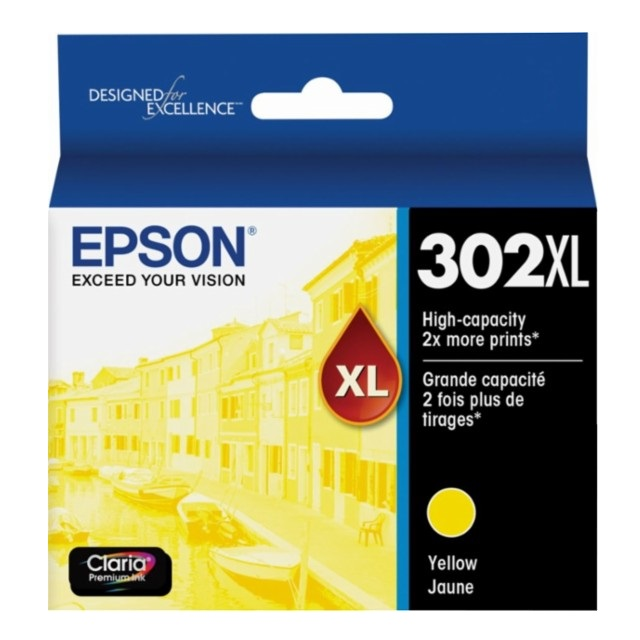 Epson Claria Premium 302XL Yellow High Yield Ink Cartridge