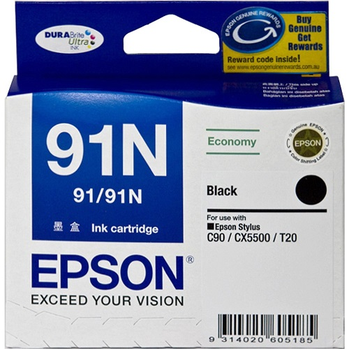 Epson DURABrite Ultra 91N Black Ink Cartridge
