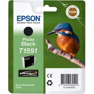 Epson T1591 Photo Black Ink Cartridge for Stylus Photo R2000