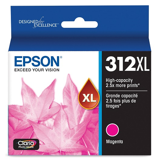 Epson Claria Photo HD 312XL Magenta High Yield Ink Cartridge