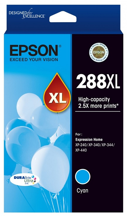 Epson DuraBrite Ultra 288XL Cyan High Yield Ink Cartridge