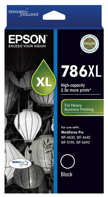 Epson DURABrite Ultra 786XL Black High Yield Ink Cartridge