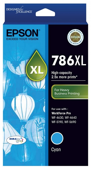 Epson DURABrite Ultra 786XL Cyan High Yield Ink Cartridge