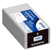 Epson DURABrite Ultra SJIC22P(K) Black Pigment Ink Cartridge for TM-C3500