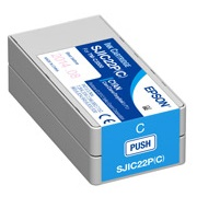 Epson DURABrite Ultra SJIC22P(C) Cyan Pigment Ink Cartridge for TM-C3500