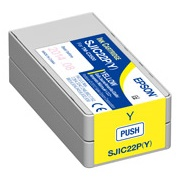 Epson DURABrite Ultra SJIC22P(Y) Yellow Pigment Ink Cartridge for TM-C3500